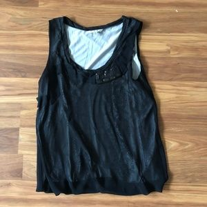 CAbi Jeweled Blouse Tank Top (L)